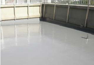 ウレタン防水を施工した陸屋根
