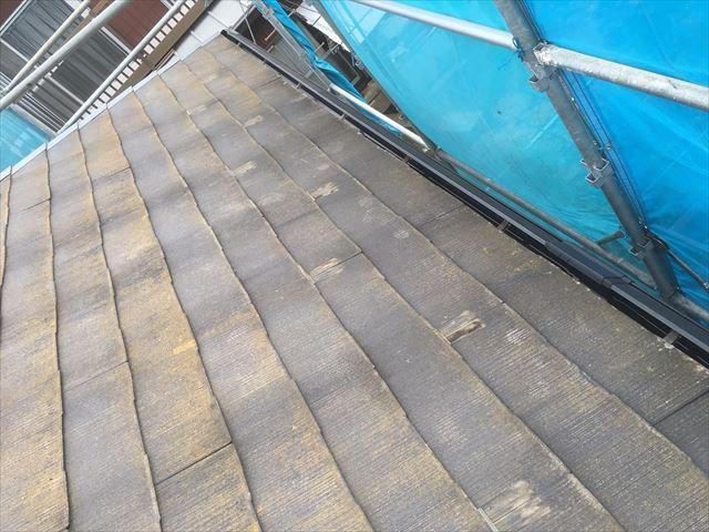 高圧洗浄後の屋根表面