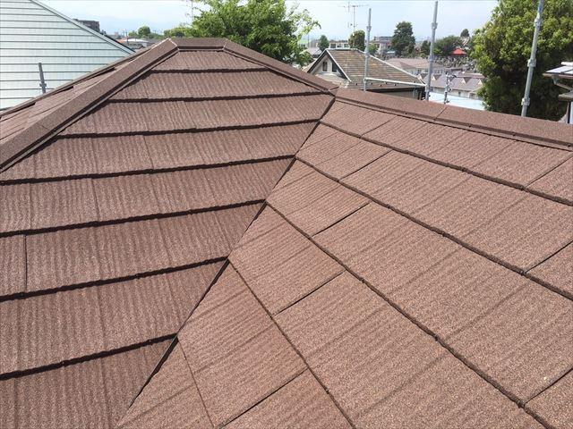 施工完了後エコグラーニ屋根