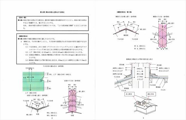 JIOルーフィング施工要領はメーカー標準施工要領と同じく重要な規準として屋根工事では絶対に順守している
