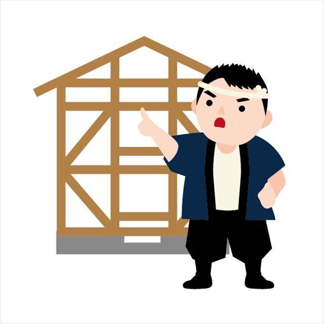 街の屋根やさん宝塚店の職人は、全ての建築工事に携わる専門の職人を統括して采配を振るう大工さんです。