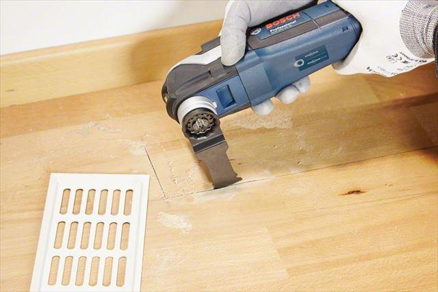 フローリングや壁を繊細にくりぬきたい場合にそれを可能にしてくれる唯一の電動工具