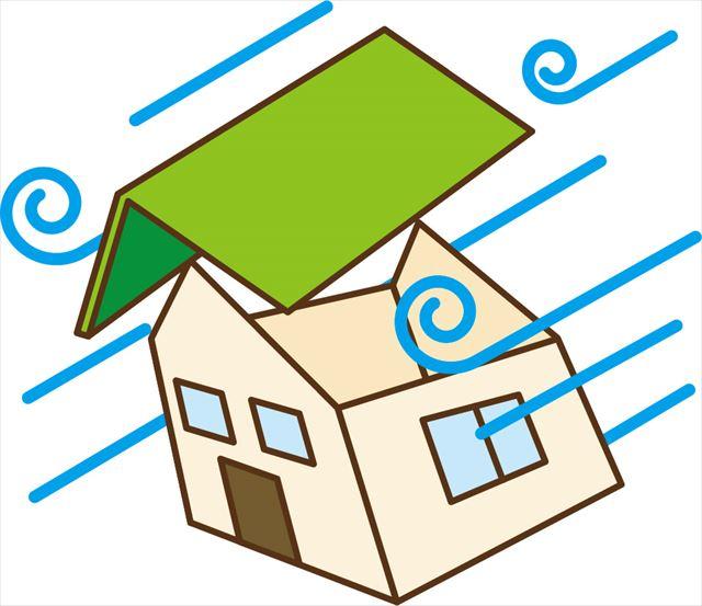 破風板や鼻隠し板、軒天から強風が吹き上げられると屋根全体が吹き飛んでしまうことがある
