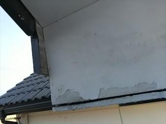 軒天井の塗装剥離