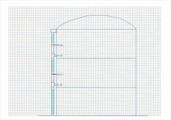 竪樋のどこに自由度を持たせるべきかを確認するには断面図を書くと早い
