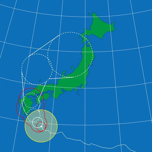 台風は一般に真夏から秋口にかけて南の海上から日本列島に上陸します。そして進路がどこであるかがポイントになります。 北半球の台風は反時計回りに巻きながら進行しますので、目よりも東側では南風が吹き、西側では北風が吹きます。