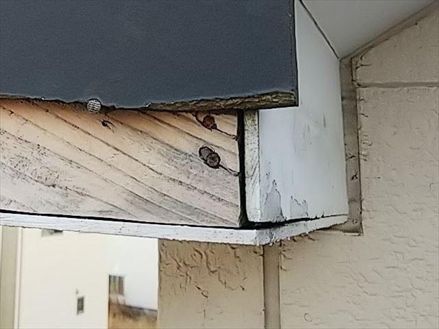 ケイカル板の木口