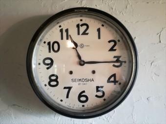 古民家の歴史を刻んできた時計