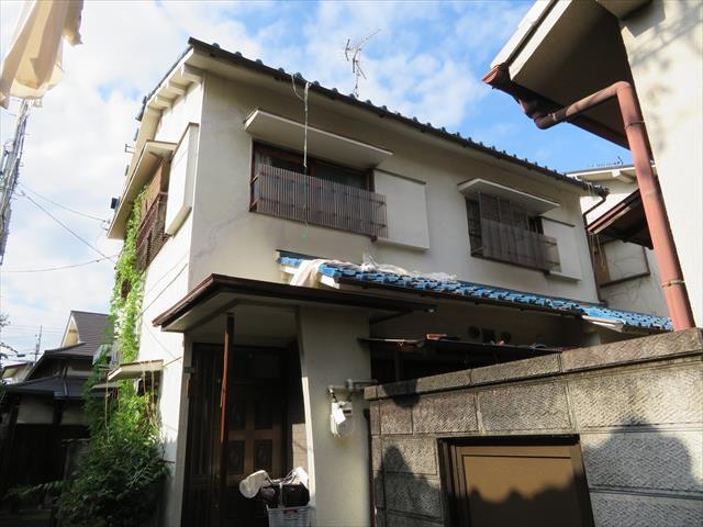 茨木市で大阪北部地震で被災した瓦屋根は瓦が大きくずれていた