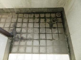 バルコニーの排水口詰まりは雨漏りにつながるのできれいに掃除してください。