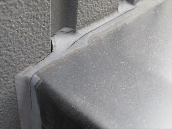 コーキングが切れている箇所には特徴があり、素材の異なる建材の接合点は最も切れやす箇所の一つ