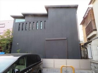 ガルバリウム鋼板立平葺き 片流れ屋根