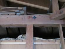 6寸角材無垢の小屋梁