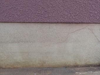 コンクリート基礎のクラックは乾燥収縮で生じた健全な範囲のもので強度低下の心配はない