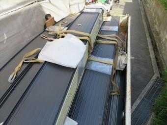 アール加工ガルバリウム鋼板屋根材