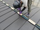 大棟を固定する貫板の下地材を用意
