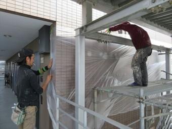 養生作業は塗装工事の仕上がり精度を左右する重要な作業で、塗装工事の要であり基本である