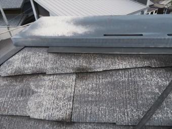 換気棟は表面が色褪せているだけで機能面は問題ないので再塗装して再設置します