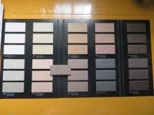 外壁タイルに最も近い色調の商材は㈱アイコットリョーワのミッチェルが候補に挙がった