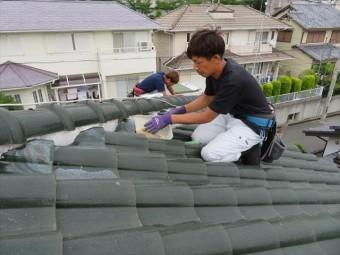 面戸や雀口に塗っている漆喰は10年程度で取り直しなどの補修が必要