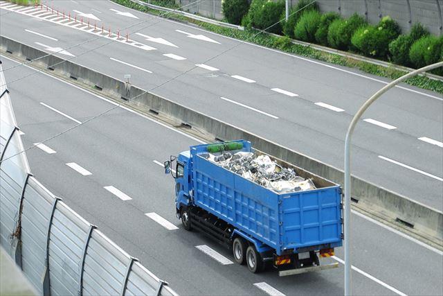 アスベストなどの特別産業廃棄物運搬